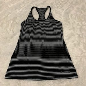 Brooks striped work out tank
